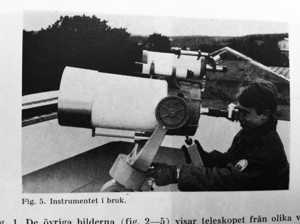 Sigtunateleskopet. Bild från PAT 1967 s 69.